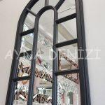 Padova Model Siyah Renk Dekoratif Pencere Ayna-13