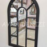 Padova Model Siyah Renk Dekoratif Pencere Ayna-14