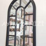 Padova Model Siyah Renk Dekoratif Pencere Ayna-15