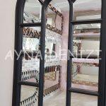 Padova Model Siyah Renk Dekoratif Pencere Ayna-17