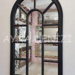 Padova Model Siyah Renk Dekoratif Pencere Ayna-2