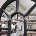 Padova Model Siyah Renk Dekoratif Pencere Ayna-20