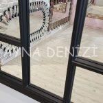 Padova Model Siyah Renk Dekoratif Pencere Ayna-21