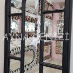 Padova Model Siyah Renk Dekoratif Pencere Ayna-22