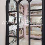 Padova Model Siyah Renk Dekoratif Pencere Ayna-23