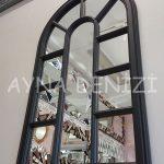 Padova Model Siyah Renk Dekoratif Pencere Ayna-3