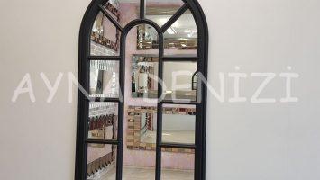 Padova Model Siyah Renk Dekoratif Pencere Ayna