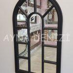 Padova Model Siyah Renk Dekoratif Pencere Ayna-9