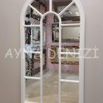 Ravenna Model Beyaz Renk Dekoratif Pencere Ayna-10