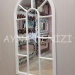Ravenna Model Beyaz Renk Dekoratif Pencere Ayna-11