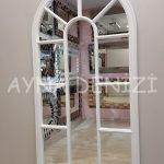 Ravenna Model Beyaz Renk Dekoratif Pencere Ayna-12