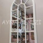 Ravenna Model Beyaz Renk Dekoratif Pencere Ayna-13