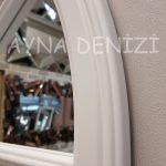 Ravenna Model Beyaz Renk Dekoratif Pencere Ayna-16