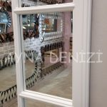 Ravenna Model Beyaz Renk Dekoratif Pencere Ayna-17