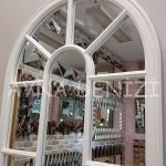 Ravenna Model Beyaz Renk Dekoratif Pencere Ayna-18