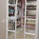 Ravenna Model Beyaz Renk Dekoratif Pencere Ayna-19