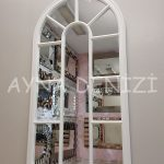 Ravenna Model Beyaz Renk Dekoratif Pencere Ayna-2