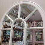 Ravenna Model Beyaz Renk Dekoratif PencerRavenna Model Beyaz Renk Dekoratif Pencere Ayna-20e Ayna-20
