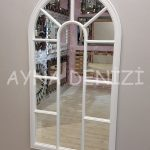 Ravenna Model Beyaz Renk Dekoratif Pencere Ayna-3