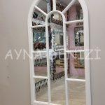Ravenna Model Beyaz Renk Dekoratif Pencere Ayna-4