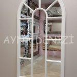 Ravenna Model Beyaz Renk Dekoratif Pencere Ayna-7
