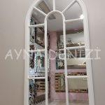 Ravenna Model Beyaz Renk Dekoratif Pencere Ayna-9