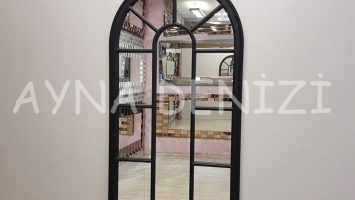 Ravenna Model Siyah Renk Dekoratif Pencere Ayna