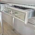 Vintage Silver Lükens Model Gümüş Renk Aynalı Dresuar Takımı-19