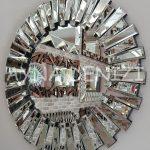 Vintage Silver Lükens Model Gümüş Renk Aynalı Dresuar Takımı-20