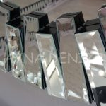 Vintage Silver Lükens Model Gümüş Renk Aynalı Dresuar Takımı-23