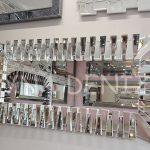 Akustik White Silver Model Beyaz Şeffaf Renk Modern Ayna-1