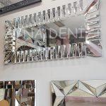 Akustik White Silver Model Beyaz Şeffaf Renk Modern Ayna-11