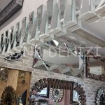 Akustik White Silver Model Beyaz Şeffaf Renk Modern Ayna-12