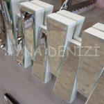 Akustik White Silver Model Beyaz Şeffaf Renk Modern Ayna-19