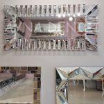 Akustik White Silver Model Beyaz Şeffaf Renk Modern Ayna-2
