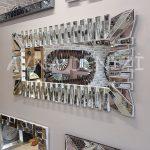 Akustik White Silver Model Beyaz Şeffaf Renk Modern Ayna-3