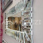 Akustik White Silver Model Beyaz Şeffaf Renk Modern Ayna-5