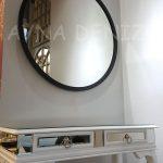 Circle Wood Black Model Siyah Renk Yuvarlak Dairesel Dekoratif Ayna-18