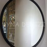 Circle Wood Black Model Siyah Renk Yuvarlak Dairesel Dekoratif Ayna-3