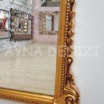 Matmazel Model Altın Renk Boy Aynası-14