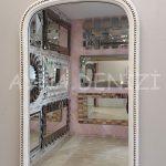 Matmazel Model Eskitme Beyaz Renk Boy Aynası-12
