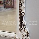 Matmazel Model Eskitme Beyaz Renk Boy Aynası-15