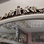 Matmazel Model Eskitme Beyaz Renk Boy Aynası-17