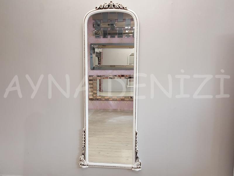 Matmazel Model Eskitme Beyaz Renk Boy Aynası