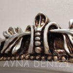 Matmazel Model Gümüş Renk Boy Aynası-16