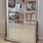Matmazel Model Gümüş Renk Boy Aynası-23