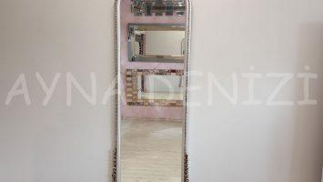 Matmazel Model Gümüş Renk Boy Aynası