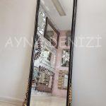 Matmazel Model Siyah Altın Renk Boy Aynası-10
