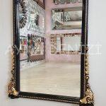 Matmazel Model Siyah Altın Renk Boy Aynası-12