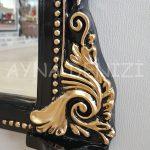 Matmazel Model Siyah Altın Renk Boy Aynası-13